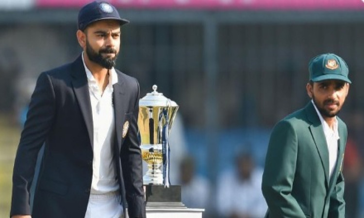 D/N Test: Bangladesh elect to bat against India (Toss) Images