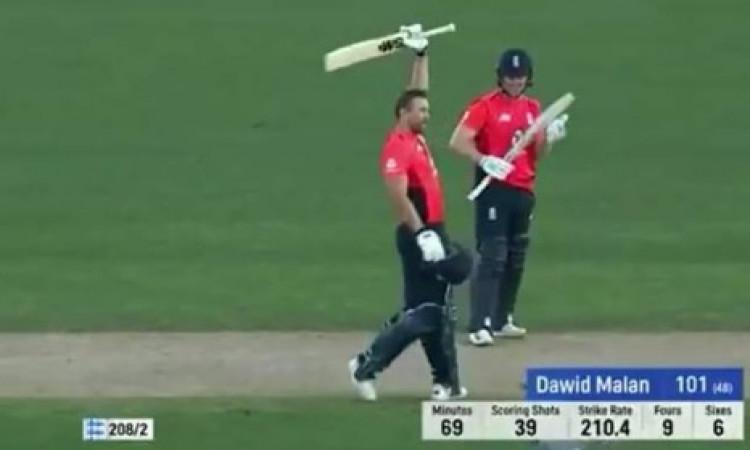 न्यूजीलैंड के खिलाफ चौथे टी-20 में इंग्लैंड ने बनाया रिकॉर्ड, डेविड मलान ने खेली सबसे तेज शतकीय पारी