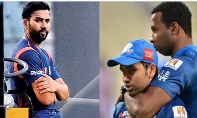 किरोन पोलार्ड ने मुंबई इंडियंस के कप्तान रोहित शर्मा को किया ट्विटर पर अनफॉलो ! Images