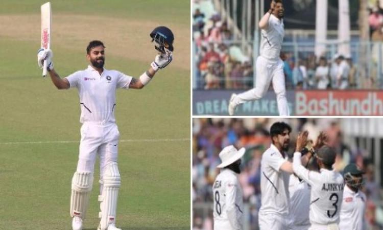 ऐतिहासिक डे -नाइट टेस्ट में भारत की धमाकेदार जीत, यह दिग्गज बना मैन ऑफ द मैच ! Images
