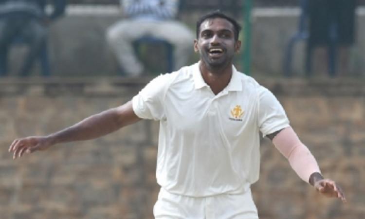 Mithun picks five in six balls in Mushtaq Ali semi-final Images