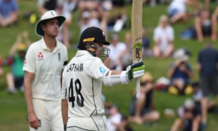 Hamilton Test: Latham ton leads NZ charge on rain-curtailed day Images