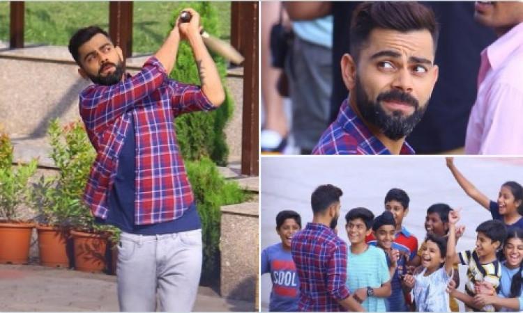 विराट कोहली ने इंदौर के सड़कों पर बच्चों के साथ खेली क्रिकेट Images