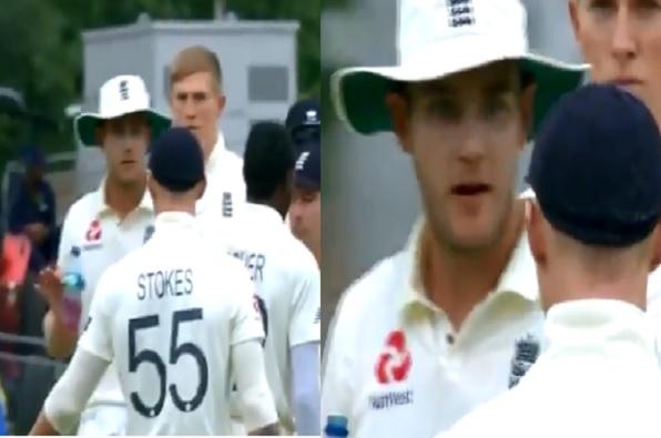 WATCH  लाइव मैच में एक दूसरे के खिलाफ बहस कर बैठे बेन स्टोक्स- स्टुअर्ट ब्रॉड ! Images