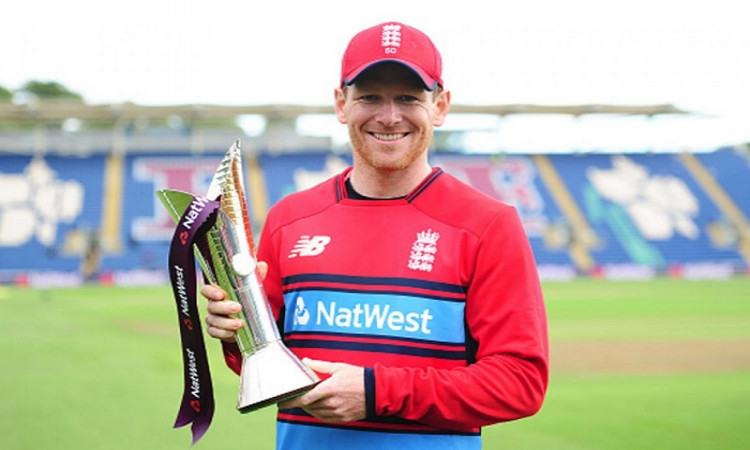 Eoin Morgan and Heather Knight