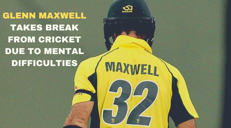 Glenn Maxwell Break Images in Hindi
