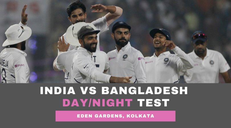India Vs Bangladesh Day:Night Test Images in Hindi