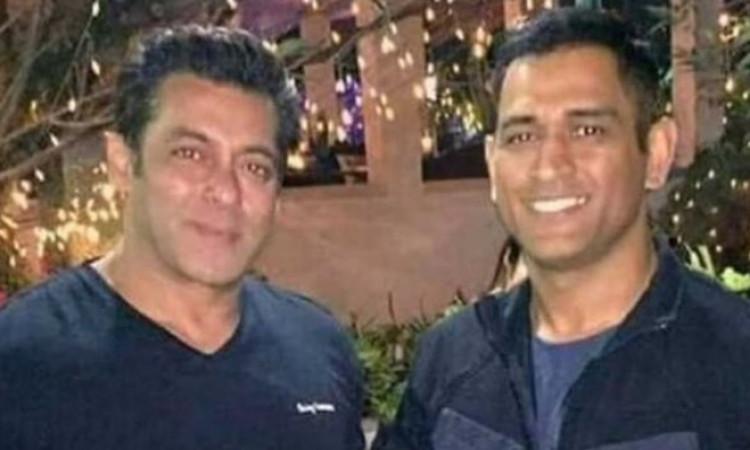 MS Dhoni and Salman Khan