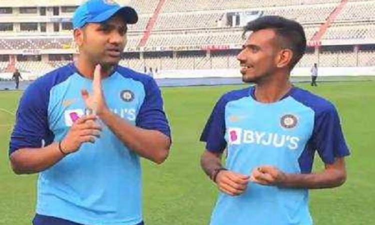 रोहित शर्मा साथी क्रिकेटर चहल के इस बात से हुए काफी खुश,  डिनर कराने के किया वादा ! Images