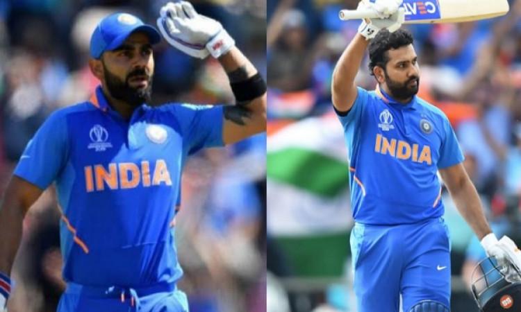 किंग कोहली ने टी-20 के 'बादशाह' रोहित शर्मा को पीछे छोड़ा Images
