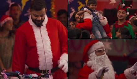 VIDEO क्रिसमस से पहले कप्तान कोहली बने सैंटा, बच्चों को ऐसे किया सरप्राइज Images