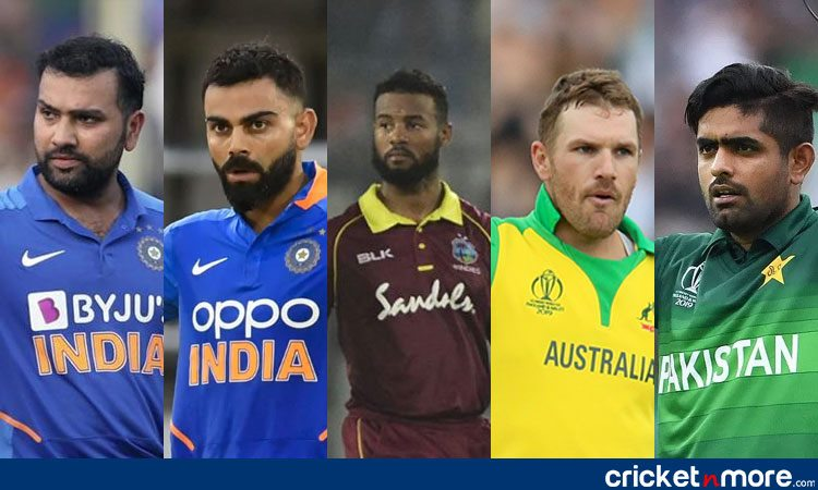 top 5 batsmen with most odi runs in 2019
