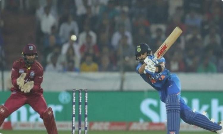 विराट कोहली  की तूफानी पारी के दम पर भारत ने वेस्टइंडीज को 6 विकेट से हराया