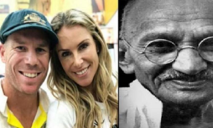 डेविड वार्नर की वाइफ ने पति की तारीफ में महात्मा गांधी का जिक्र किया Images