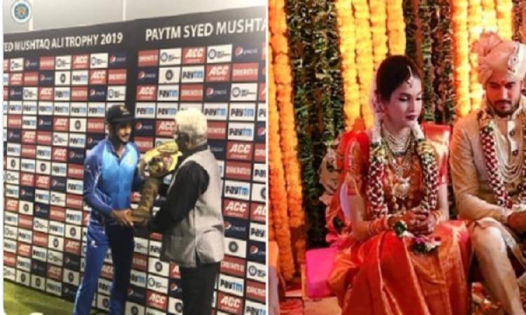 सैयद मुश्ताक अली ट्रॉफी:खूबसूरत एक्ट्रेस से शादी करने से पहले मनीष पांडे ने खेली मैच जीताऊ पारी, जान