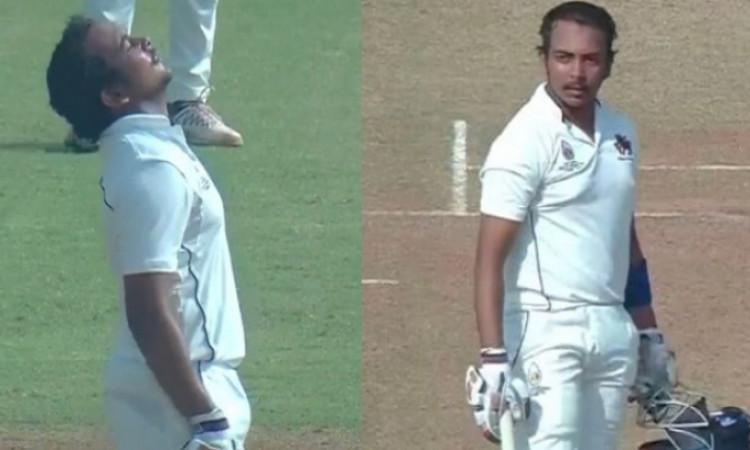 आठ महीने के बाद क्रिकेट में लौटे पृथ्वी शॉ ने रणजी ट्रॉफी में जमाया दोहरा शतक Images