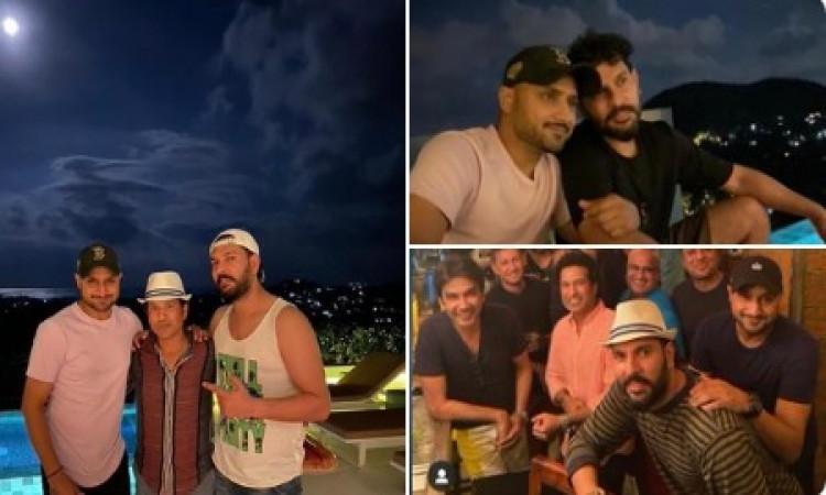 युवराज सिंह ने अपना बर्थडे मनाया धूम धाम से, सचिन, हरभजन जैसे दिग्जग पहुंचे पार्टी में ! Images