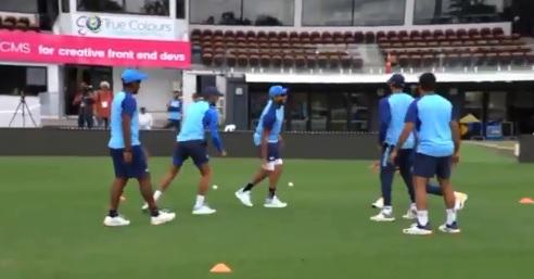 तीसरे टी-20 से पहले भारतीय टीम ने किया अनोखे अंदाज में अभ्यास, देखकर आपभी हैरान होंगे।! Images