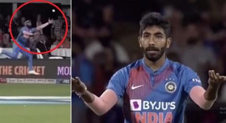 VIDEO तीसरे टी-20 में मोहम्मद शमी के द्वारा ऐसी फील्डिंग करता देख बुमराह हुए खफा, गुस्से में दिया ऐस
