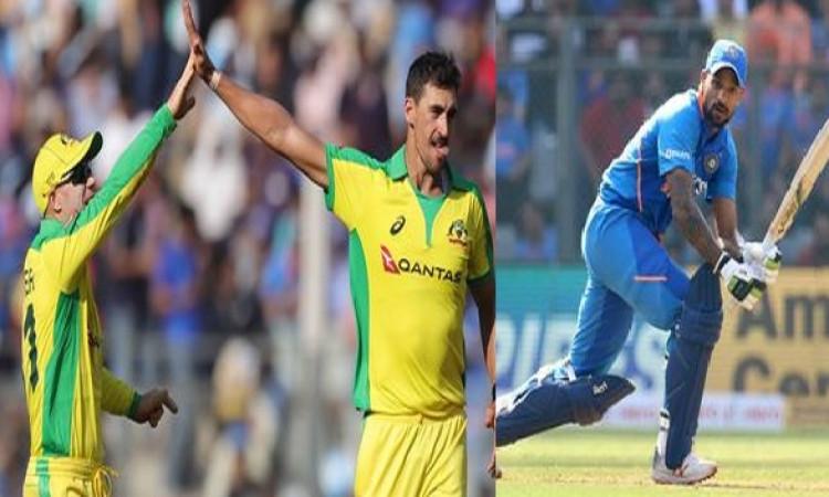 ऑस्ट्रेलियाई गेंदबाजों का कमाल, धवन के अर्धशतक के बाद भी भारत ने दिया 256 रनों का टारगेट ! Images