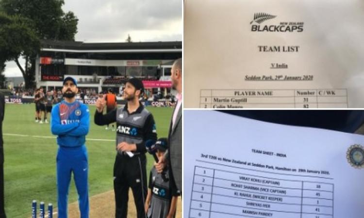 तीसरे टी-20 में भारत - न्यूजीलैंड की प्लेइंग इलेवन की घोषणा, जानिए पूरी लिस्ट ! Images