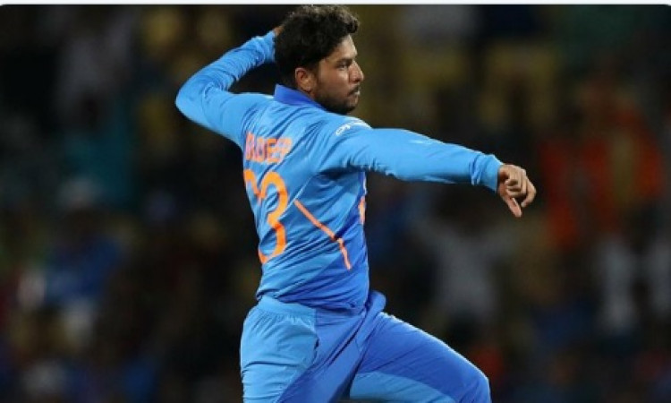 Kuldeep fastest Indian spinner to get to 100 ODI wickets Images