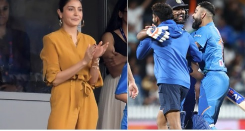 तीसरे टी-20 में भारत की शानदार जीत पर विराट की खूबसूरत वाइफ अनुष्का शर्मा का रहा ऐसा रिएक्शन ! Image