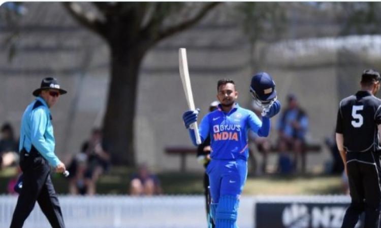 न्यूजीलैंड ए के खिलाफ वार्म अप मैच में पृथ्वी शॉ की तूफानी बल्लेबाजी, केवल इतनी गेंद पर जड़ दिए पूरे