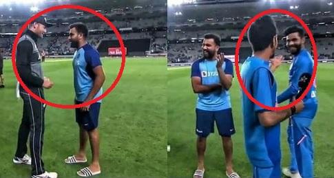 VIDEO मैच के बाद चहल के साथ मार्टिन गप्टिल ने किया मजाक, कहा कुछ ऐसा, रोहित अपनी हंसी नहीं छूपा पाए
