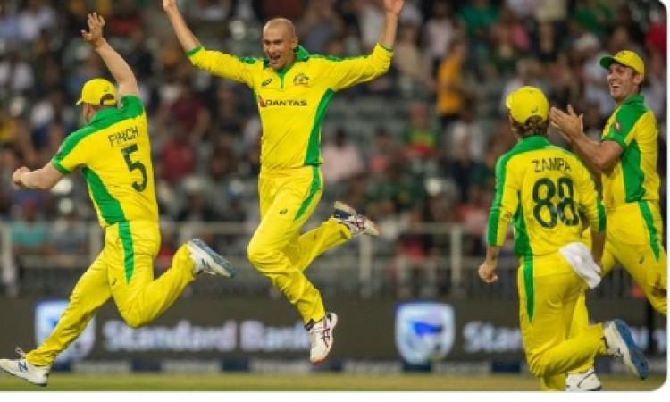 Agar's fifer, including a hat-trick, help Aus thrash SA Images