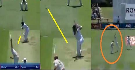 WATCH पृथ्वी शॉ ने खेली 54 रनों की शानदार पारी लेकिन टॉम लैथम ने ऐसा कैच लेकर किया कमाल ! Images