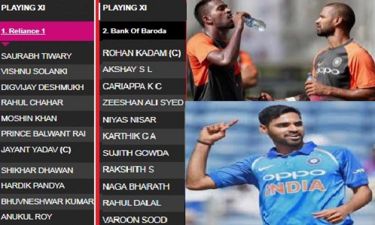 हार्दिक पांड्या, शिखर धवन और भुवनेश्वर कुमार ने एक साथ मिलकर की क्रिकेट के मैदान पर वापसी ! Images
