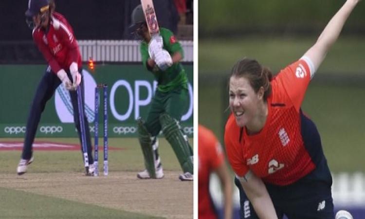 महिला टी-20 वर्ल्ड कप में इंग्लैंड ने पाकिस्तान को दी पटखनी, इंग्लैंड महिला गेंदबाजों का कमाल Images