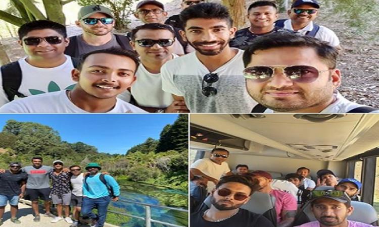 न्यूजीलैंड के खिलाफ टेस्ट सीरीज शुरू होने से पहले भारतीय टीम ने कुछ ऐसे बिताया समय ! Images