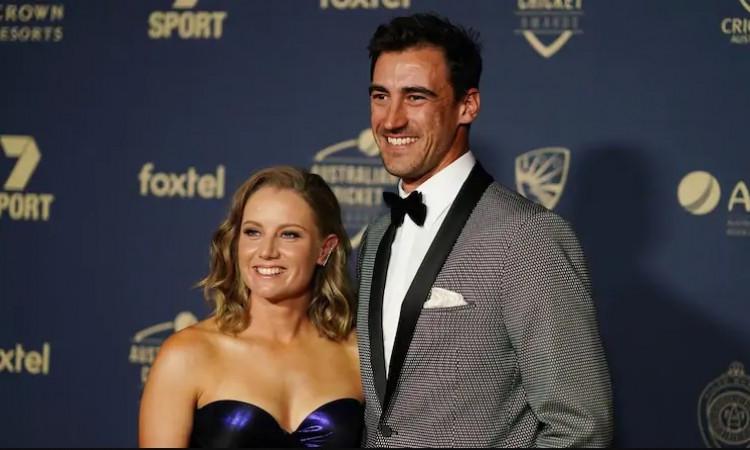Mitchell Starc with wife Alyssa Healy