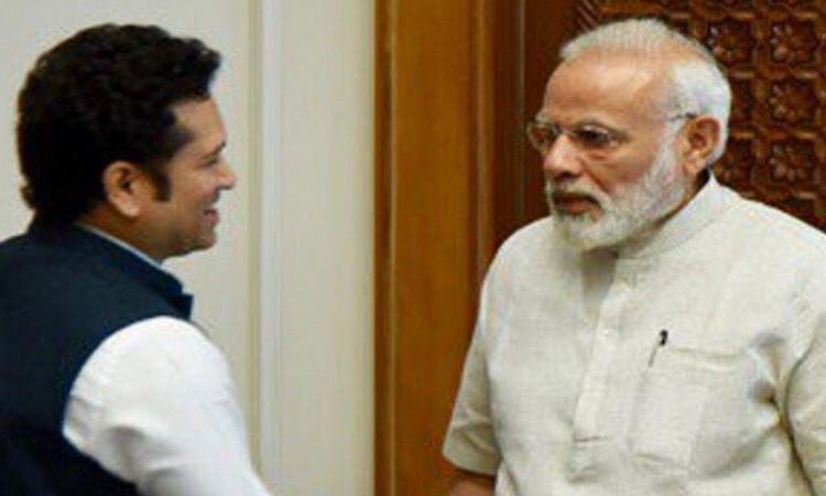PM Modi and Sachin Tendulkar