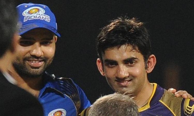 Rohit Sharma and gautam gambhir