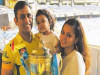 MS Dhoni with Sakshi