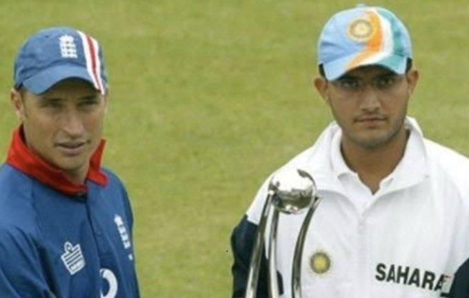 Sourav Ganguly and Nasser Hussain
