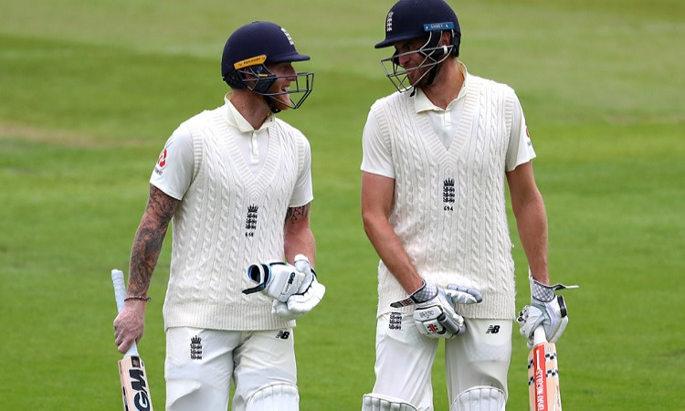 Ben Stokes and Dom Simley