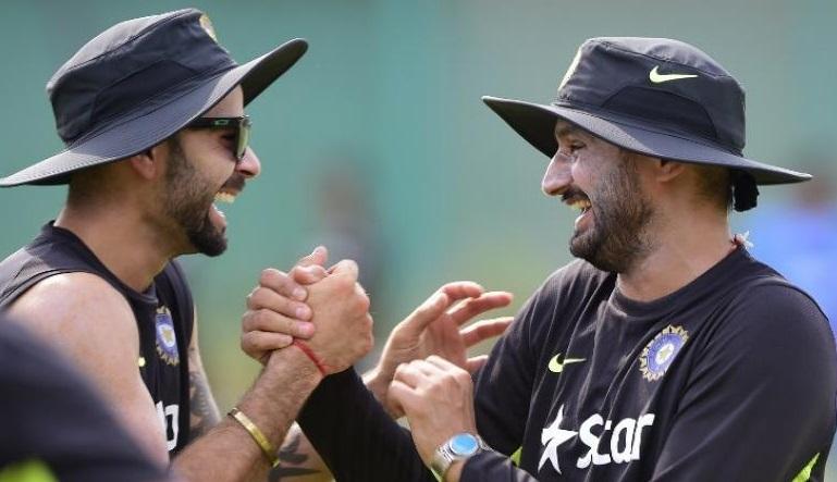 Harbhajan Singh and Virat Kohli