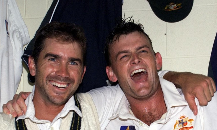 Justin Langer and Adam Gilchrist