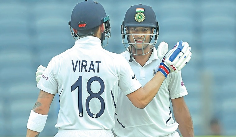 Mayank Agarwal and Virat Kohli