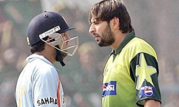 Shahid Afridi and Gautam Gambhir