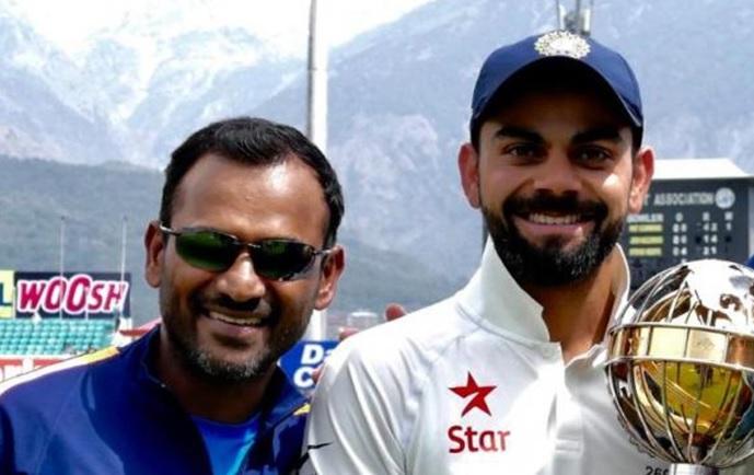 Virat Kohli and R Sridhar