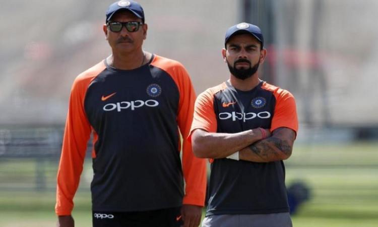 Virat Kohli and Ravi Shastri