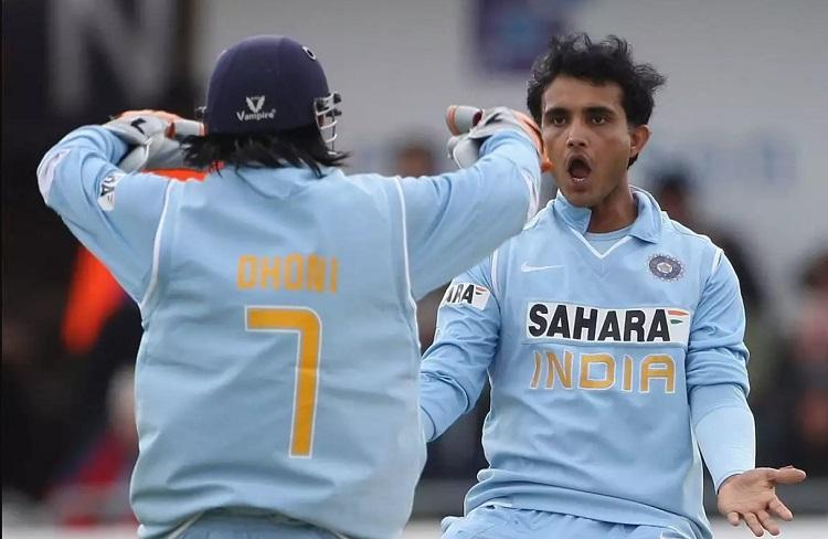 Dhoni and Ganguly