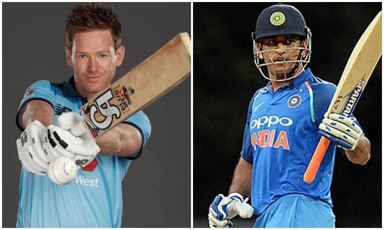 Eoin Morgan and MS Dhoni