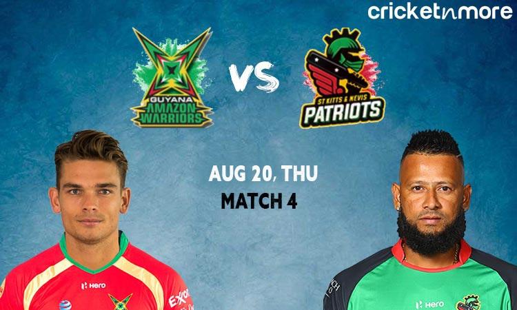 Guyana Amazon Warriors vs St. Kitts and Nevis Patriots