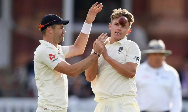 James Anderson and Sam Curran